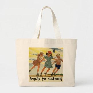 Crianças do vintage, patinagem de rolo do divertim bolsas