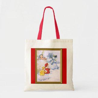 Crianças e o boneco de neve bolsas para compras