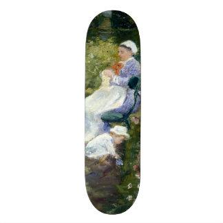 Crianças em um jardim (enfermeira) por Mary Skates