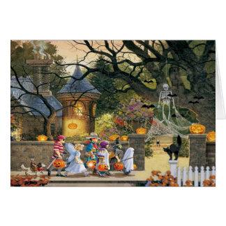 Crianças felizes do Dia das Bruxas Cartão Comemorativo