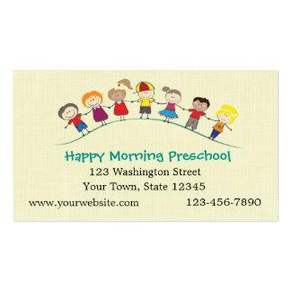 Crianças felizes prées-escolar cartão de visita
