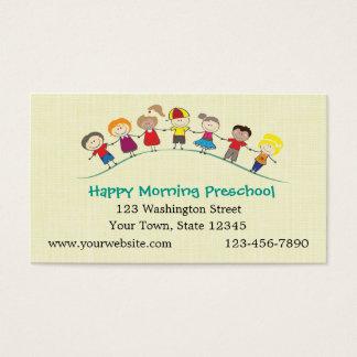 Crianças felizes prées-escolar cartão de visitas