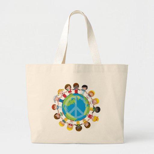 Crianças globais bolsa de lona