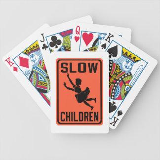 Crianças lentas, sinal de aviso do tráfego, EUA Jogos De Baralhos
