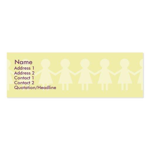 Crianças - magros cartões de visitas