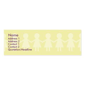 Crianças - magros cartão de visita skinny