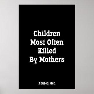 Crianças matadas o mais frequentemente por mães pôster