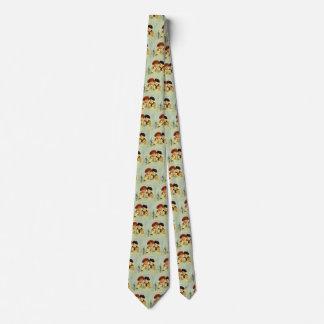 Crianças, menino e menina do vintage gravata