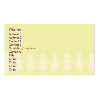 Crianças - negócio cartão de visita