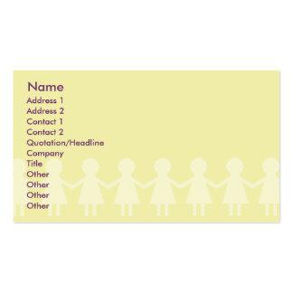 Crianças - negócio cartões de visitas