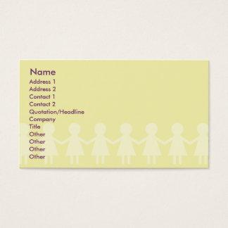 Crianças - negócio cartão de visitas