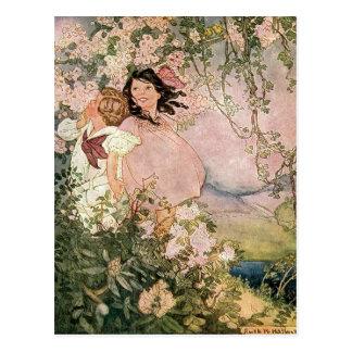 Crianças no primavera por Ruth Hallock Cartão Postal