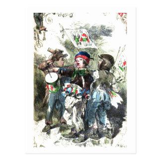 Crianças que fazem o Natal da música Cartão Postal
