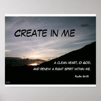 Criar em mim um coração limpo, deus de O,… Poster