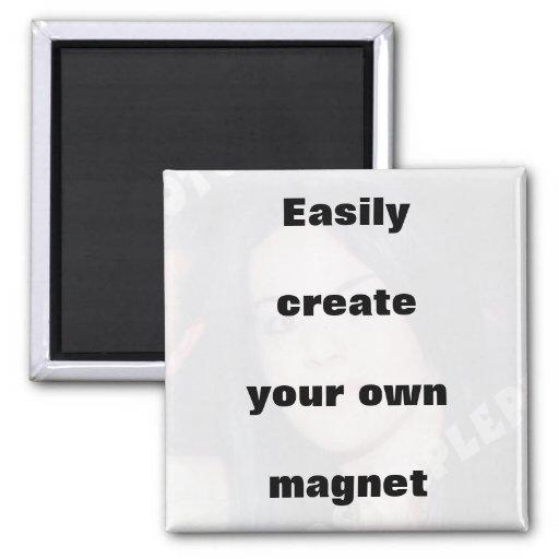 Criar facilmente seu ímã removem o texto grande! ímã quadrado