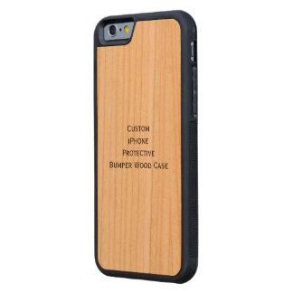 Criar o caso de madeira abundante protetor do capa de cerejeira bumper para iPhone 6