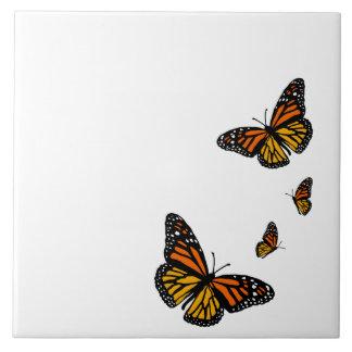 Criar seu azulejo das borboletas de monarca da cor