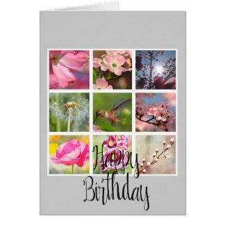 Criar seu próprio aniversário da colagem da foto cartão comemorativo