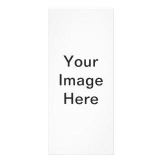 Criar seu próprio cartão da cremalheira 10.16 x 22.86cm panfleto