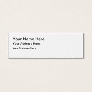 Criar seu próprio cartão de visita magro