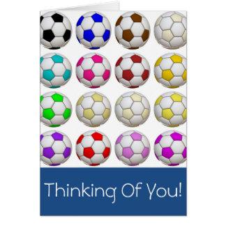 Criar seu próprio futebol que pensa de você cartão