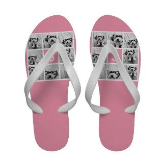Criar seu próprio monograma do costume da colagem flip-flops