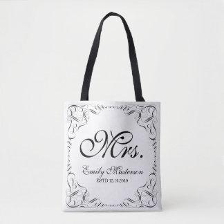 Criar seu próprio monograma do Sr. Sra. Seu Dela Bolsa Tote