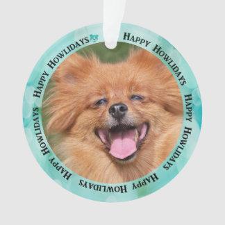 Criar seu próprio ornamento da foto do cão de