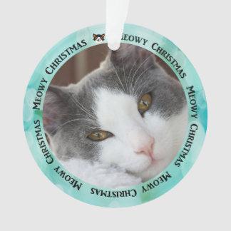 Criar seu próprio ornamento da foto do gato do