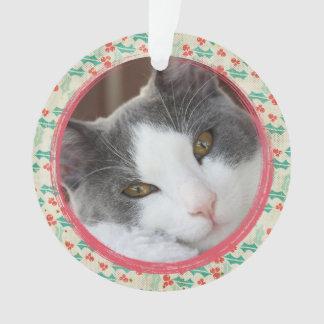 Criar seu próprio ornamento da foto do gato do cão
