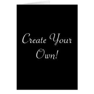 Criar seu próprio preto cartão