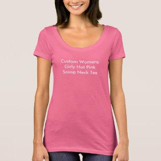 Criar seu próprio rosa quente feminino camiseta