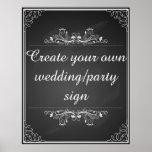 Criar seu próprio sinal do casamento do quadro poster