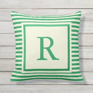 Criar seu próprio travesseiro verde e bege do almofada