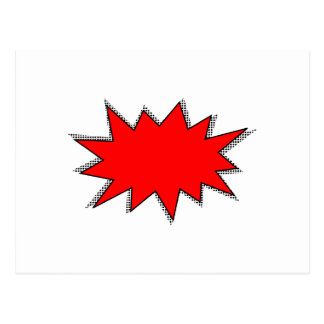 Criar seus próprios Onomatopoeias do super-herói! Cartão Postal