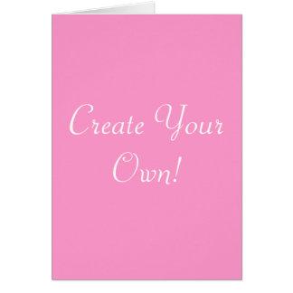Criar seus próprios rosa e branco cartoes
