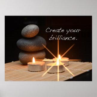 Criar sua luminosidade impressão