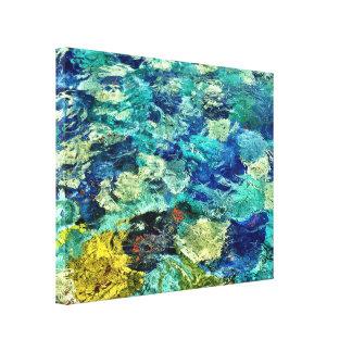 Criar sua própria arte abstracta 14 x 11 impressão em tela