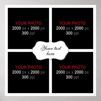 Criar sua própria colagem 003 da foto do casamento pôster