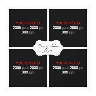 Criar sua própria colagem 003 da foto do casamento impressão em tela