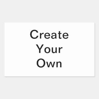 Criar sua própria etiqueta do retângulo adesivo em forma retangular