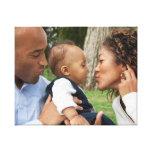 Criar sua própria foto de família feita sob impressão em tela
