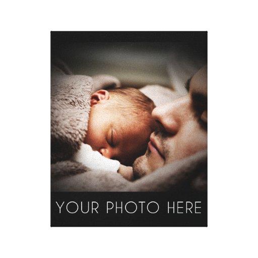 Criar um presente da foto de família impressão em canvas