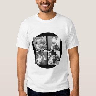Criar uma colagem com 4 fotos - preto de Instagram Camisetas