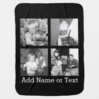 Criar uma colagem com 4 fotos - preto de Instagram Mantas De Bebe