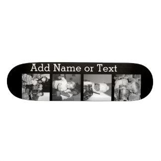Criar uma colagem com 4 fotos - preto de Instagram Shape De Skate 20cm
