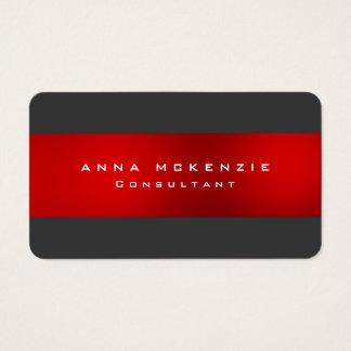 Criativo na moda original vermelho cinzento na cartão de visitas