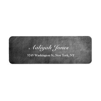 Criativo profissional elegante do quadro cinzento etiqueta endereço de retorno