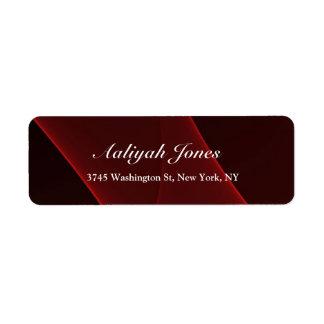 Criativo profissional elegante vermelho marrom etiqueta endereço de retorno