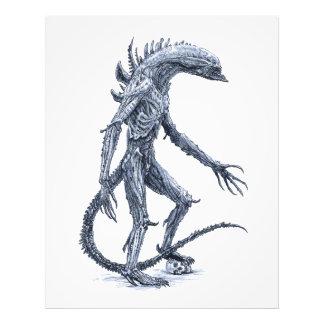 Criatura estrangeira com crânio impressão de foto